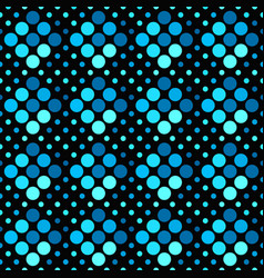 geometrical abstract blue dot pattern background vector image