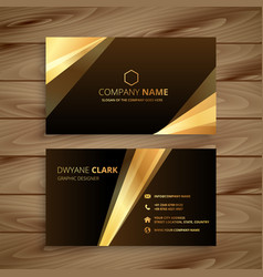 golden shiny business card design vector image