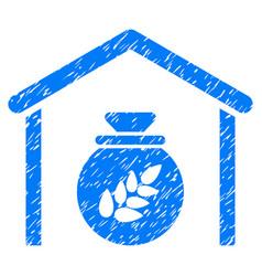 grain storage icon grunge watermark vector image vector image