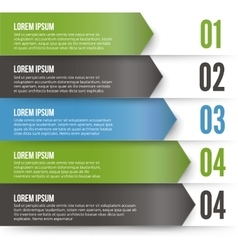 Green Arrows Infographics vector