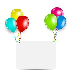 Greeting card with colorful balloons vector image