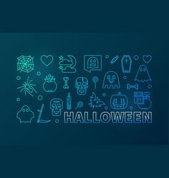 halloween modern colorful line greeting vector image