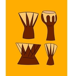 Hand drawn djembe vector