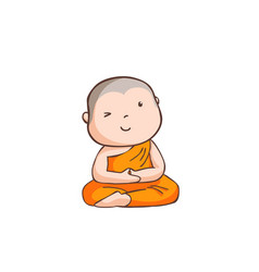 happy little neophyte take meditate vector image