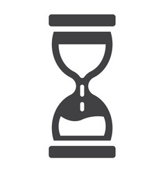 hourglass solid icon business and deadline vector image