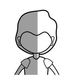 Line man with hairstyle and t-shirt vector