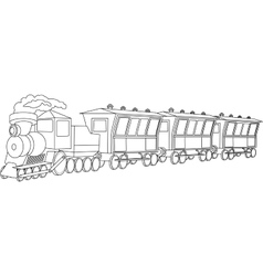 Locomotive Vintage style vector image