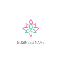 lotus flower beauty logo vector image