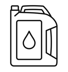 Motor oil icon outline style vector
