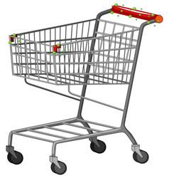 One shopping cart full coronavirus cells vector
