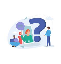 online communication getting help information vector image