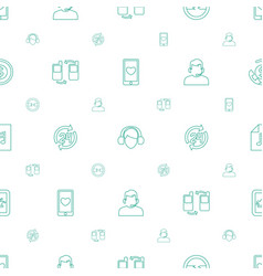 Phone icons pattern seamless white background vector