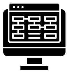 Planning telecommuting or remote work icon vector