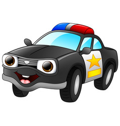 police car cartoon vector image