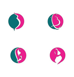 pregnant logo template icon vector image