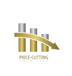 Price cutting label vector image