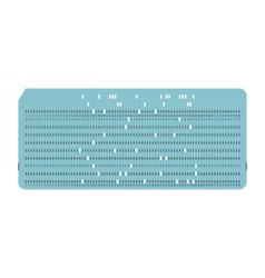 Punched card Vintage computer data storage vector image