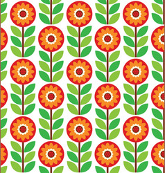 retro geometric flowers pattern 04 vector image