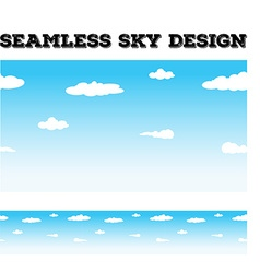 Seamless background desing with sky and clouds vector image