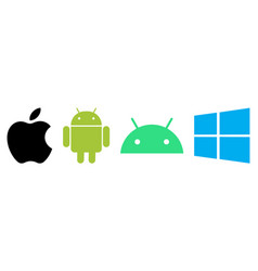 Set apple android and windows logos vector