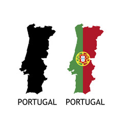 Silhouette portugal on white color vector