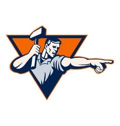 Sledge hammer worker vector