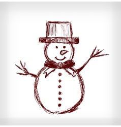 Snowman with hat vector