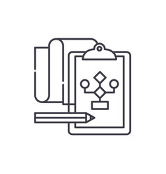 solution of the problem line icon concept vector image