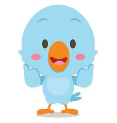 Standing bluebird character vector