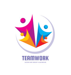 teamwork - creative template vector image