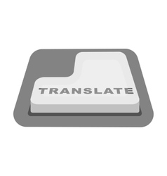 Translate button icon in monochrome style isolated vector