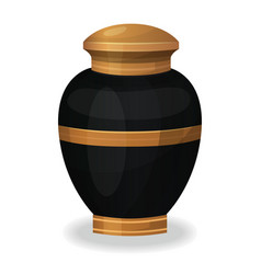 urn for ashes icon cremation ceremony vase vector image