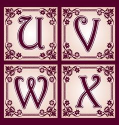 Vintage abc part 6 vector