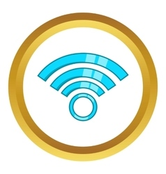 Wireless network symbol icon vector image
