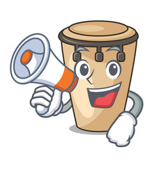 with megaphone conga character cartoon style vector image