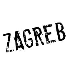 Zagreb stamp rubber grunge vector