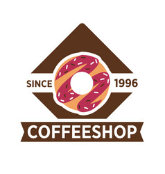 Coffeeshop cafeteria or cafe icon template vector