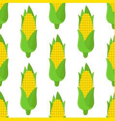 corn seamless pattern cartoon flat style vector image