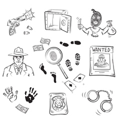 Crime story vector