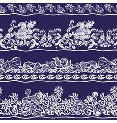 Design border webbing lace seamless pattern vector image vector image