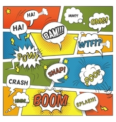 Emotional And Sound Comic Bubbles Set vector image
