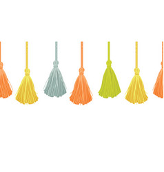 long hanging decorative tassels set with vector image vector image