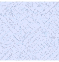 Seamless math elements on school board EPS 10 vector image vector image