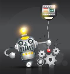 Silver Robot Metal Robot vector image vector image