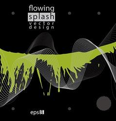 Splattered web design element art ink blob bright vector image vector image