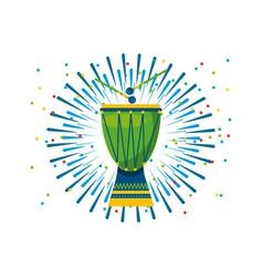 drum instrument of brazil vector image