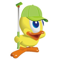 duck play golf vector image