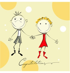 funny couple vector image vector image