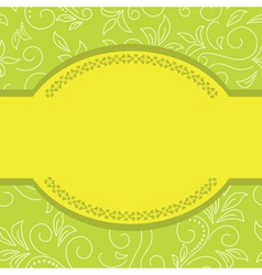 green and yellow floral card vector image vector image