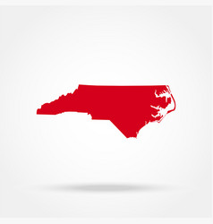 map of the us state of north carolina vector image